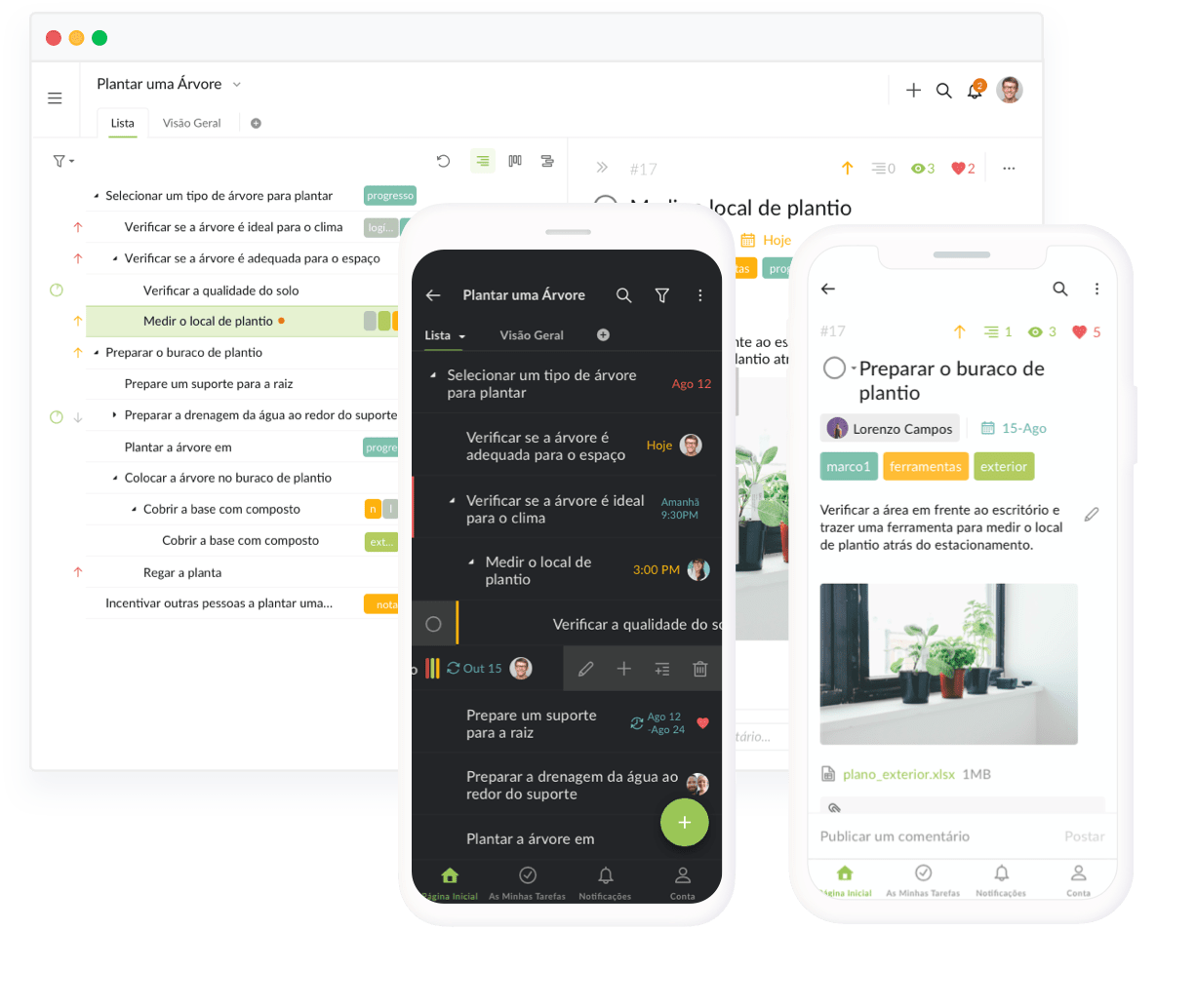 Project management mobile apps iOS Android