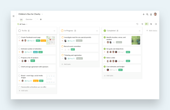 project management software with Kanban board
