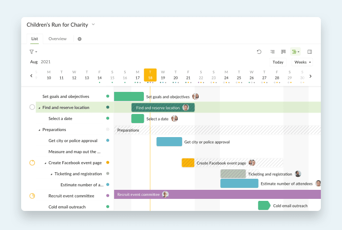 Gantt chart project management software