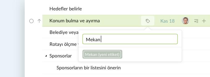 tasks tag