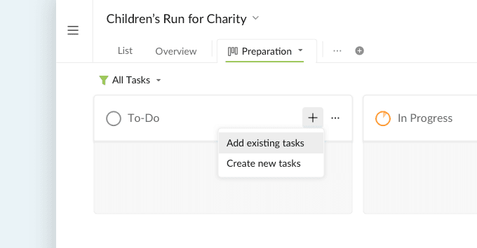 add tasks to Kanban board